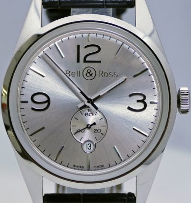 bell and ross Officer Silver